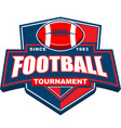 football tournament badge logo design vector image vector image
