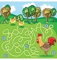 Funny Maze Game - Cartoon Chicken vector image vector image