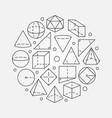 geometry mathematics vector image vector image