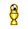 golden cup soccer trophy icon football goblet vector image
