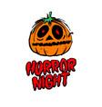 Halloween pumpkin horror night vector image