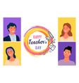 happy teachers day portraits best masters vector image vector image