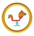 Horse swing icon vector image vector image