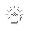 human head bulb lamp logo idea smart icon vector image vector image