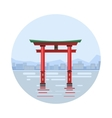 japan at floating gate icon vector image