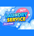 laundry service dry clothing typography banner vector image