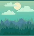 mountain nature landscape vector image vector image