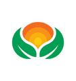 natural natural green leaf logo vector image vector image