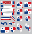 panama flags vector image vector image