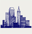 Panoramic city vector | Price: 1 Credit (USD $1)