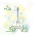 paris sign famous eiffel tower travel france vector image