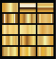 realistic gold background texture vector image vector image