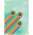Retro abstract background for design on old paper vector image vector image