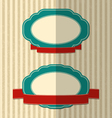 Retro labels with red ribbons vector image vector image