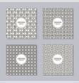 set 4 creative covers abstract geometric vector image vector image