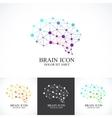 set colorful template brain logo vector image
