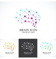 Set of Colorful Template Brain Logo vector image vector image