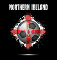 soccer ball in the color of northern ireland vector image vector image