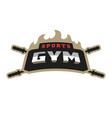sports gym logo vector image