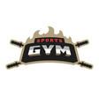sports gym logo vector image vector image