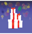 Stack of gift boxes vector image vector image