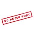 StPeter Port Rubber Stamp vector image vector image