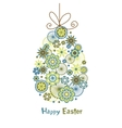 Stylized easter egg with bow vector image vector image