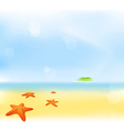 Summer sea beach vector | Price: 1 Credit (USD $1)