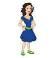 teen girl with hands on hip vector image vector image