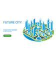 template for futuristic cityscape vector image