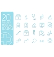 thin line medical set icons concept design vector image vector image