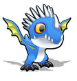 toy dragon in blue color isolated on white vector image vector image