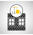 under construction brick graphic vector image vector image