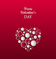 Valentine card with abstract heart made of circles vector image vector image