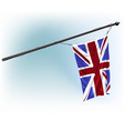 watercolor british flag paint vector image