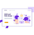 website creation process design vector image