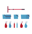 window cleaning tools and equipment vector image