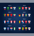 world soccer championship groups football vector image