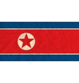 North Korea paper flag vector image