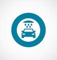 car wash icon bold blue circle border vector image
