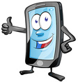 mobile phone cartoon vector image