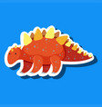 a simple dinosaur sticker vector image vector image