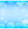 Abstract blue gear technology background vector image