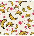 abstract pattern seamless yellow bananas vector image