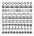 arabic frame ornament pattern brush set vector image