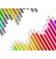 Back to school with multicolored pensils EPS10 vector image vector image
