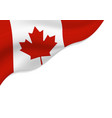canada flag isolated on white background vector image vector image