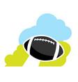 cartoon american football ball vector image vector image