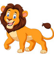 cartoon happy lion isolated on white background vector image vector image
