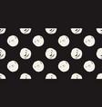 casual polka dot texture vector image vector image